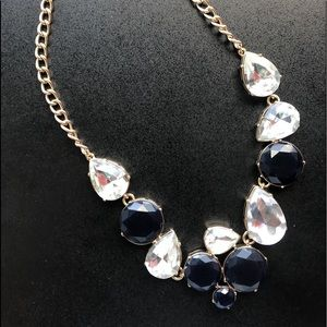 J.Crew Necklace Women's Deep Blue and Clear Stones